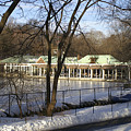 Boat House Central Park Ny by Henri Irizarri