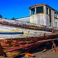Boat In Dry Dock by Garry Gay