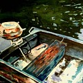 Boat In Fog 2 by Marilyn Jacobson
