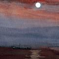 Boat In The Moon by Anil Nene