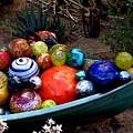 Boat Load Of Blown Glass Balls by Jeanette Oberholtzer