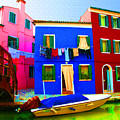 Boat Matching House by Donna Corless