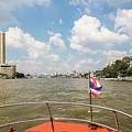 Boat On Chao Praya In Bangkok by Didier Marti