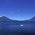 Boat On Lake Atitlan Guatemala by John  Mitchell