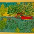 Boat On Lake by Dennis Buchy