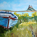 Boat On Lindisfarne. by John Cox