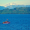 Boat On Llanquihue Lake From Puerto Varas-chile by Ruth Hager