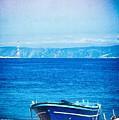Boat On Messina Strait, Italy by Silvia Ganora