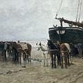 Boat On The Beach At Scheveningen by Anton Mauve