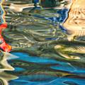 Boat Reflections - Hvar Croatia by Stuart Litoff