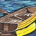 Boat Reflections by Kathleen Sartoris