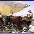 Boat Returning From A Fishing Trip Joaquin Sorolla Y Bastida by Eloisa Mannion