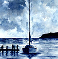 Boat Scene - Blue Sky by Michael Vigliotti