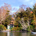 Boat Shed On The Waikato River by Nicholas Blackwell