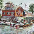 Boat Station On Krestovsky Island In St.-petersburg by Andrei Belevich