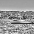 Lobster Boat Mount Sinai Harbor Li.ny by Terry McCarrick