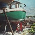 Boat Yard Boat 01 by Martin Davey
