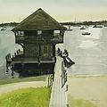 Boathose, Edgartown, Martha's Vineyard by Robert Bowden