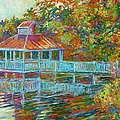 Boathouse At Mountain Lake by Kendall Kessler