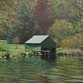 Boathouse On Langwater Pond by Bill McEntee