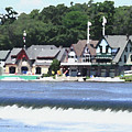 Boathouse Row - Palette Knife by Lou Ford