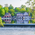 Boathouse Row - Framed In Spring by Bill Cannon