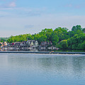 Boathouse Row From Mlk Drive - Philadelphia by Bill Cannon