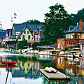 Boathouse Row In Philly by Bill Cannon