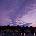 Boathouse Row In Twilight by Bill Cannon