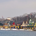 Boathouse Row On A Winter Morning by Bill Cannon