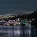 Boathouse Row Philadelphia Pa At Night  by Terry DeLuco