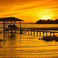 Boathouse Sunset by Rich Leighton