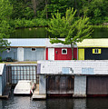 Boathouses by Les Palenik