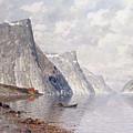 Boating On A Norwegian Fjord by Johann II Jungblut