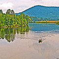 Boating On Connecticut River Between Vermont And New Hampshire by Ruth Hager