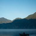 Boatman Lake Atitlan Guatemala by Douglas Barnett