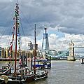 Boats And Shard And Tower Bridge by Gary Eason