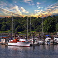 Boats And Sunrise by Anthony Dezenzio