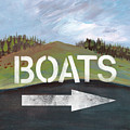 Boats- Art By Linda Woods by Linda Woods
