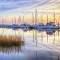 Boats At Calm by Debra and Dave Vanderlaan