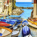 Boats At Cinque Terre by Dominic Piperata