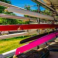 Boats At Dallas Rowing Club by Robert Hurst