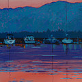 Boats At Dusk by Robert Bissett