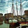 Boats At Gloucester Docks by C Lythgo