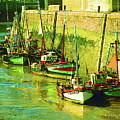 Boats At Honfluer France by Fred Jinkins