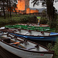 Boats At Ross Castle Killarney Ireland by Pierre Leclerc Photography