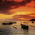 Boats At Senggigi by Gloria & Richard Maschmeyer - Printscapes