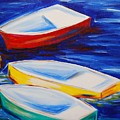 Boats At The Dock by Emily Page