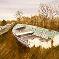 Boats By Causeway by Tony Scarmato