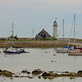 Boats By Scituate Lighthouse by Brian MacLean